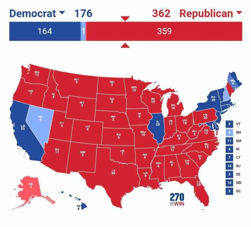 2020 presidential prediction map