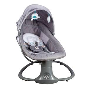 Elektrisk babysitter gunga 3 i 1 med baldakin, bluetooth och myggnät