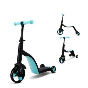 Finflicka Barncykel 3 i 1 Trike - Balanscykel Trehjuling Sparkcykel