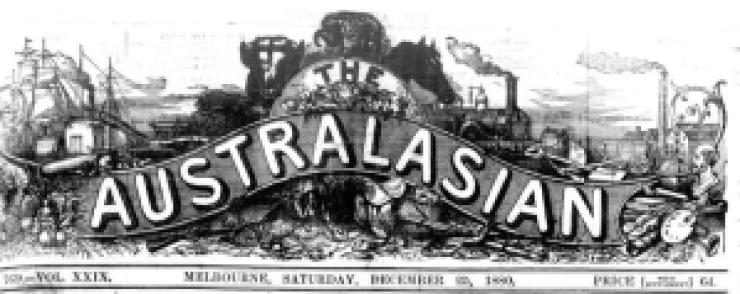 The masthead of The Australasian newspaper.