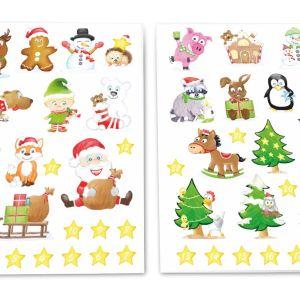 Adventskalender DIY für Kinder, Kinder Weihnachtsaufkleber, Aufkleber Weihnachten Adventskalender