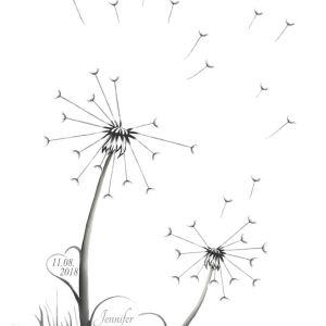 Wedding Tree Blume, Weddingtree Pusteblume, Fingerabdruckbaum