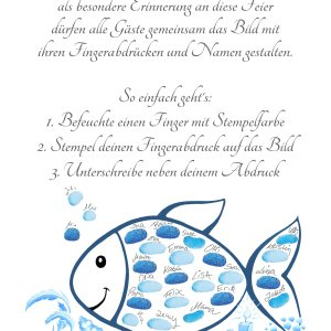 Tauffisch, Taufe Fisch, Fingerabdruckfisch Anleitung