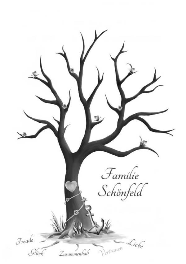 Stammbaum, Familienbaum, Stammbaum Vorlage, Stammbaum gestalten