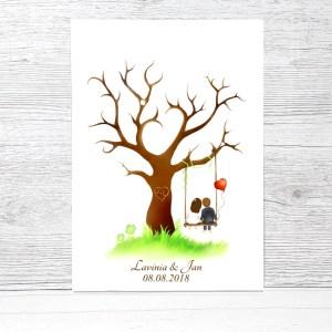 Fingerabdruckbaum Hochzeit, Fingerabdruck Baum Vorlage