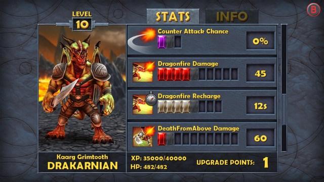 Battle Hunters Character Stats