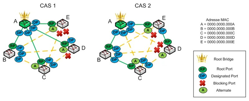 RSTP Protocol - Alternate port - Scheme 04