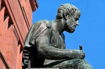 고대 그리스 철학자 아리스토텔레스 동상