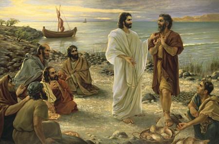 디베랴 바닷가에서 베드로에게 질문하시는 예수님