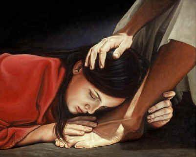 예수님의 발을 닦는 창녀