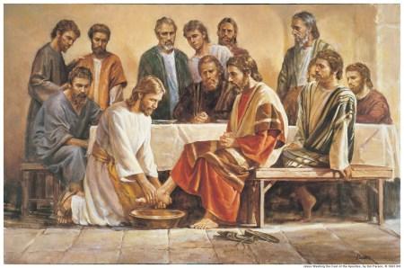 제자들의 발을 닦아 주시는 예수님