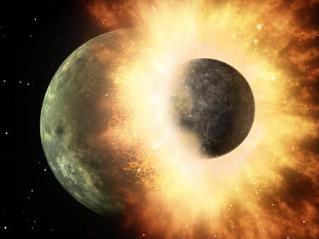달이 형성되었다고 여겨지는 충돌 가설