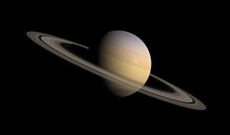 아름다운 토성과 토성 고리의 모습