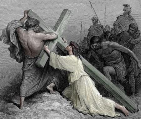 예수님의 십자가를 억지로 지고 간 구레네 사람 시몬