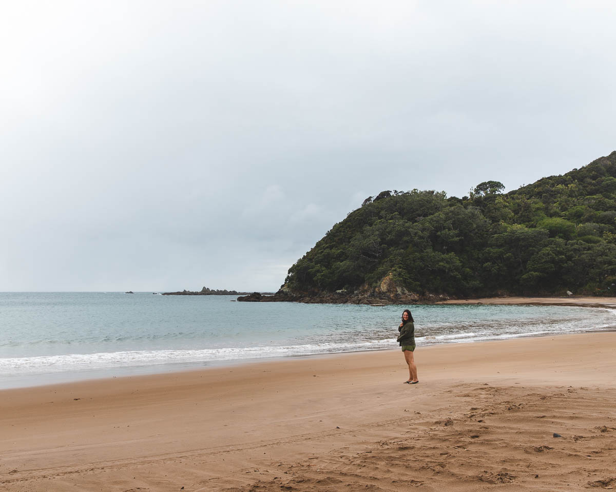 Woman on Little Bay, Coromandel Peninsula