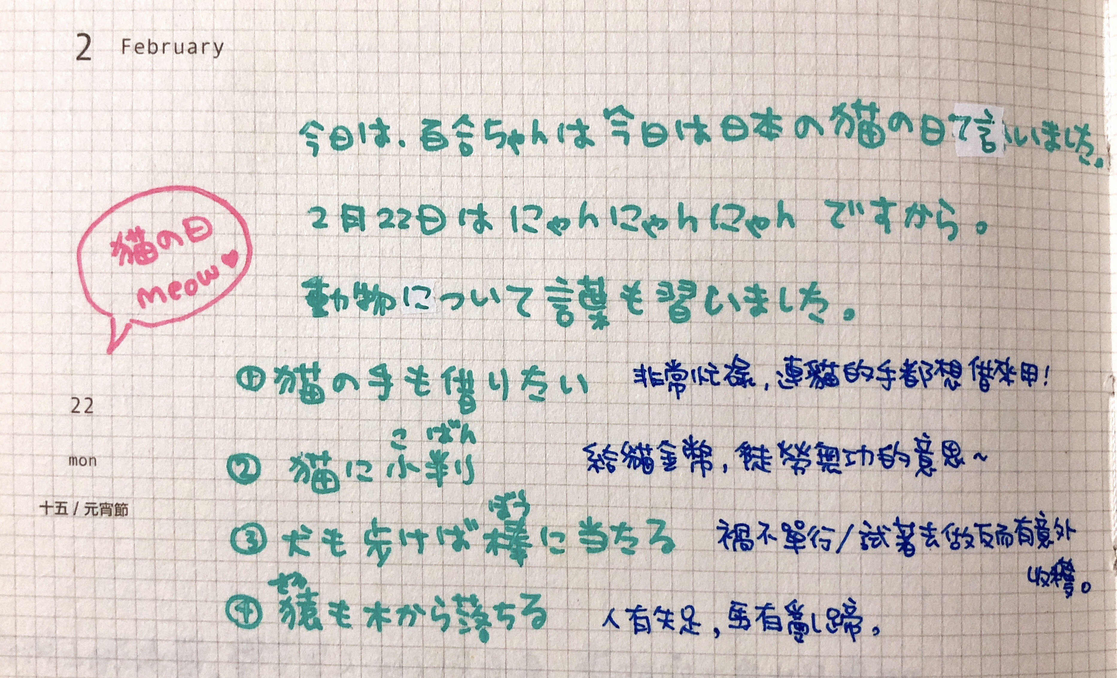 365-138 日文筆記本系列 連貓的手都想借來用!   頭戴皇冠的小企鵝