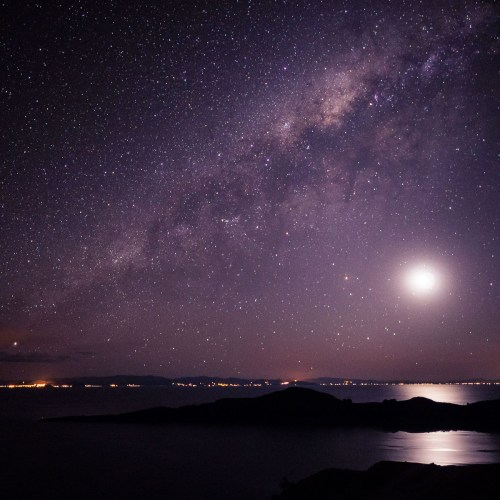 Milky Way over the Lake Titicaca in Bolivia