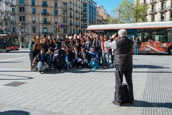 Photo of a group of pupils in Barcelona