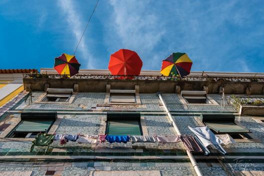 colorfull umbrellas lisbon