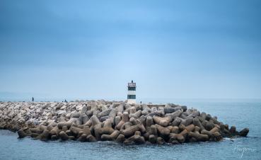 lighthouse foggy nazare