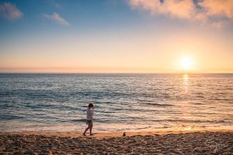 beach nazare sunset girl