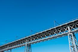 bridge blue sky