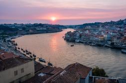 porto sunset river