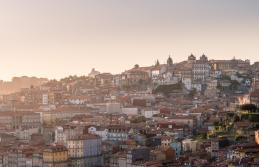porto cityscape sunset