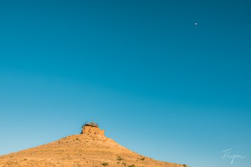 The camel hill in Mitzpe Ramon at sunset