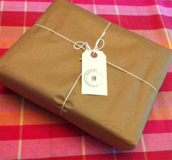 A new package from Warp & Weft Exquisite Textiles.