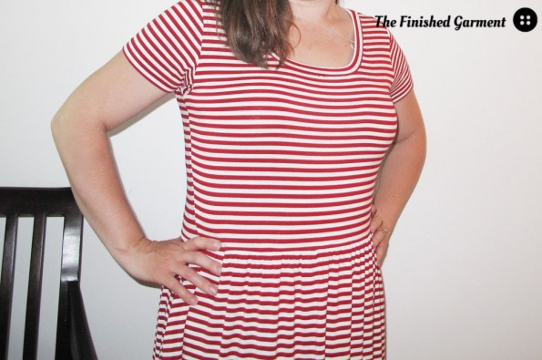 Moneta in Stripes sewn by The Finished Garment