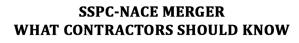 SSPC-NACE MERGER