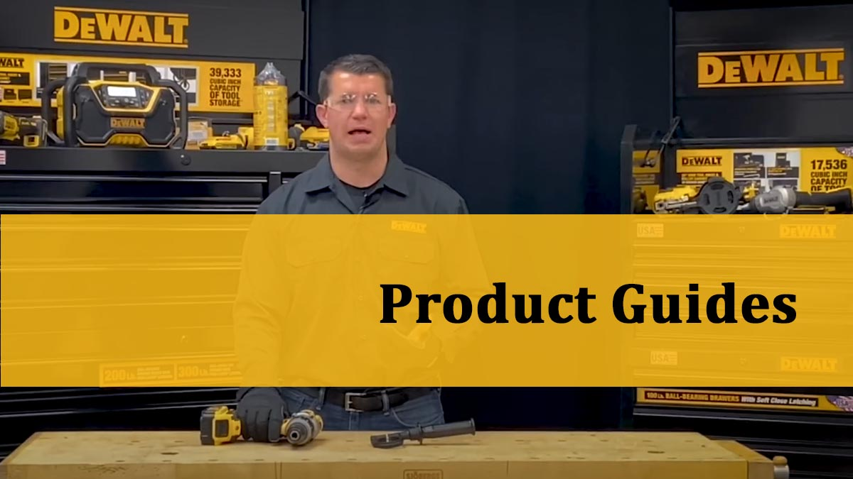 DeWalt TV Product Guides