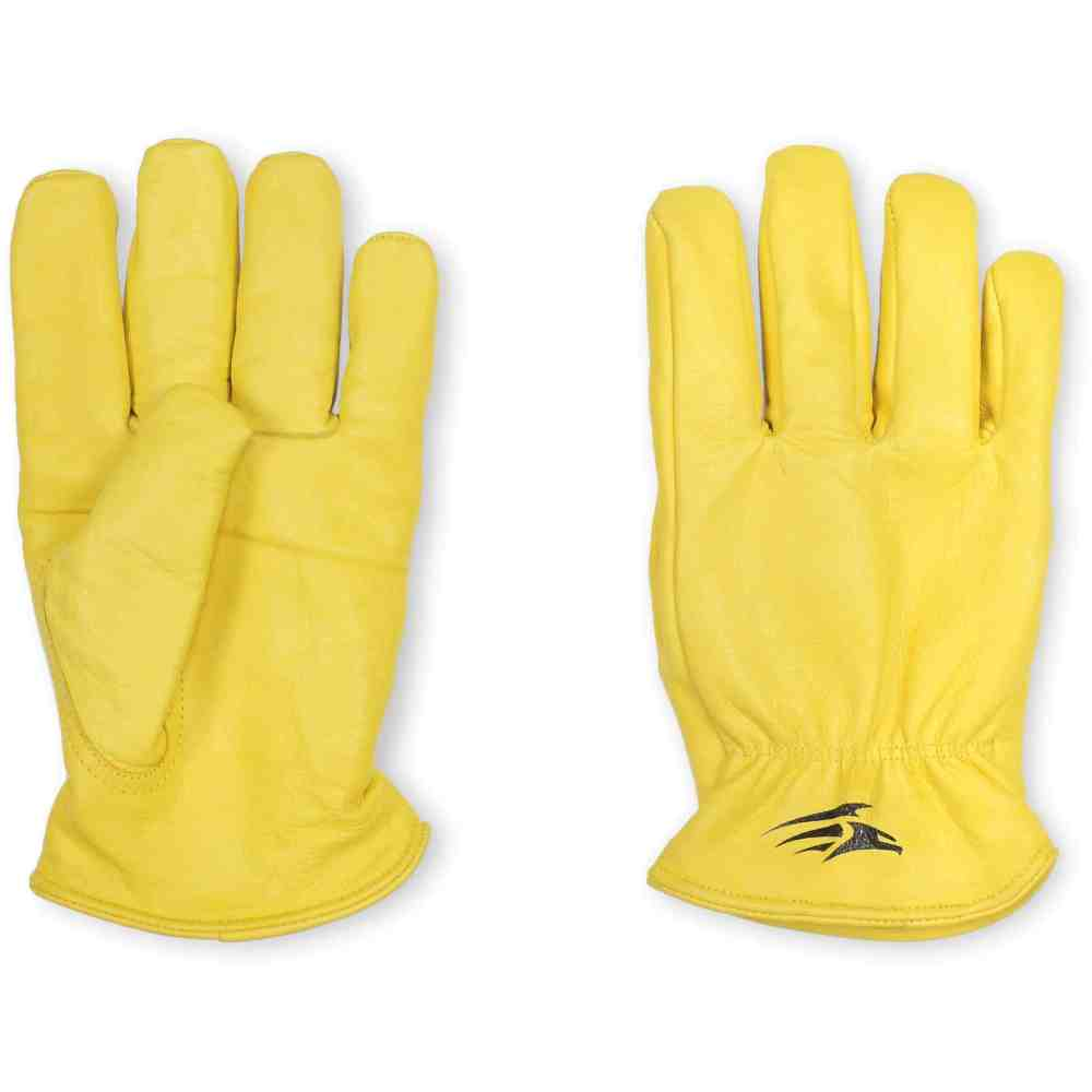 Dactyl - Premium Soft Grain Lined Driver Gloves (Gold) (Pair)