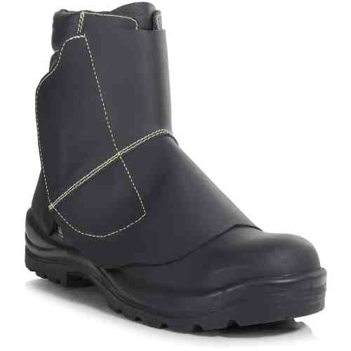PB26A-BLK - Mid Leg Foundry Boot - Right Angle (Square)