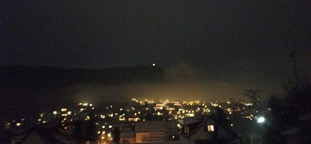 Der Schleifenberg bei Nacht
