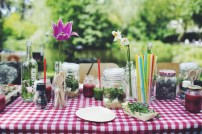 Picture perfect and healthy lunch table
