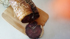 Cured wild boar (actually from Germany)