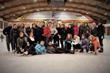 Groepen-ijsschaatsen