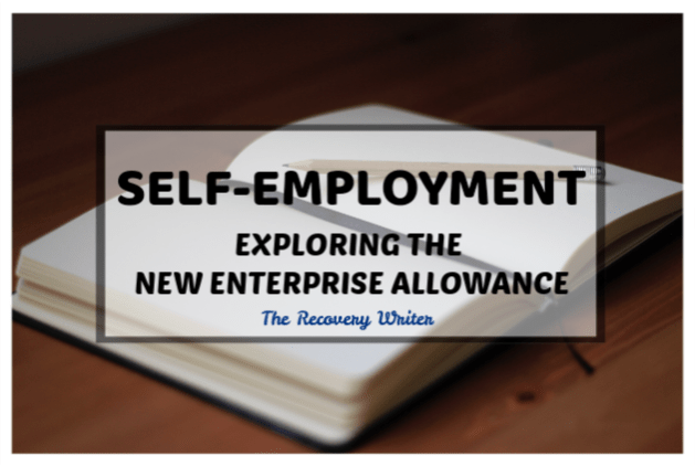 Self employment exploring the new enterprise allowance. Picture of a blank diary open with a pen on it