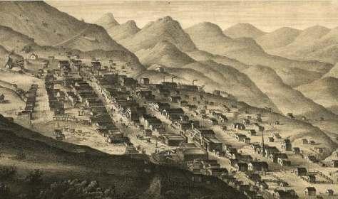 Virginia City, Nevada in 1861