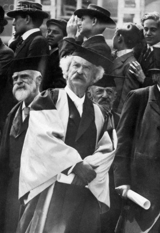 Mark Twain Receiving Honorary Degree from Oxford
