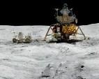 Apollo 16 - John Young with the LRV