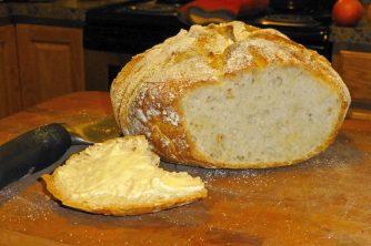 Sourdough boule in my kitchen