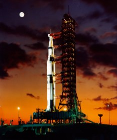 Apollo 4 test vehicle on the pad