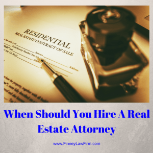 graphic of when should you hire a real estate attorney