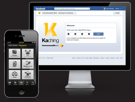 Commonwealth Bank Kaching for Facebook banking finno