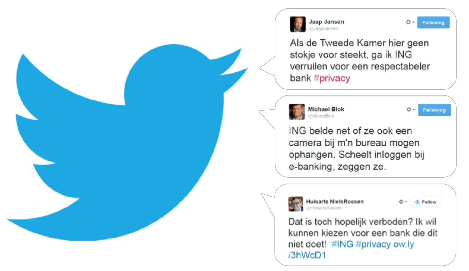 twitter ing privacy klantgegevens finno