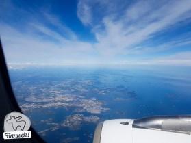 Anflug auf Helsinki...