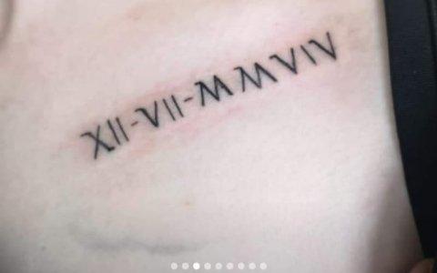 Cuando te quieres tatuar números romanos pero tu tatuador repitió la ESO 2 veces